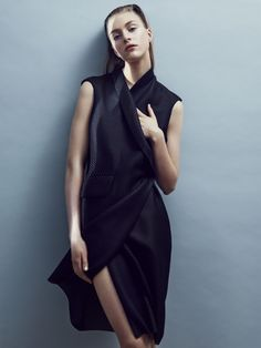 Lapel dress