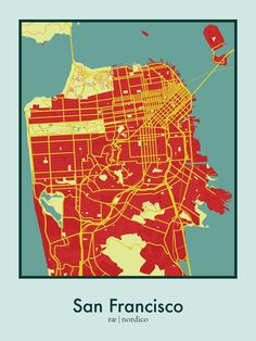 San Francisco map prints by ræ | nordico