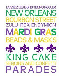 Mardi Gras Print