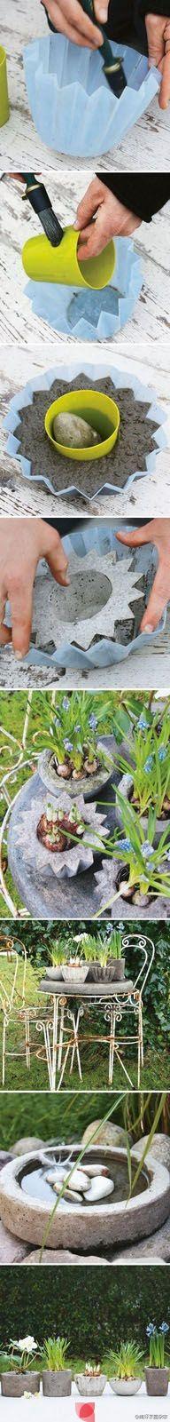 Concrete Planter Idea