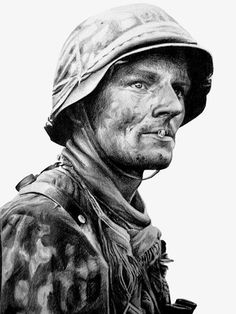 Another popular photo of an SS soldier turned into some nice art by chuckie96.