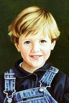 Portret 40x50 Olieverf op linnen  juliette swillens