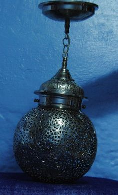 Moroccan chandelier lamp CHEFCHAOUEN wrought by ArtChefchaouen