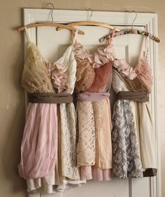 Bridesmaids' dresses for a country wedding