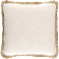 Ellery Poly Fill Square Pillow in Beige