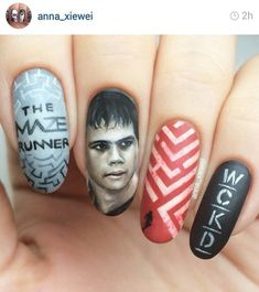 The maze runners nails art #nails art