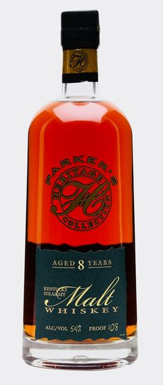 PARKER'S HERITAGE 8 YEAR OLD STRAIGHT MALT 9th Edition, Kentucky