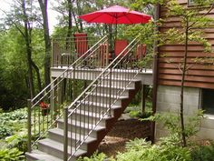 Custom iron deck railing