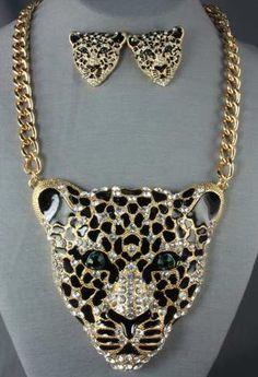 Leopard necklace set
