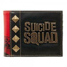 Suicide Squad Bifold Wallet DC Comics Harley Quinn Metal Logo Movie Batman DCU #Bioworld #Bifold Dc Comics, Transparent Bag, Joker And Harley Quinn, Cool Items, Card Wallet, Squad, Wallets, Metal, Logo