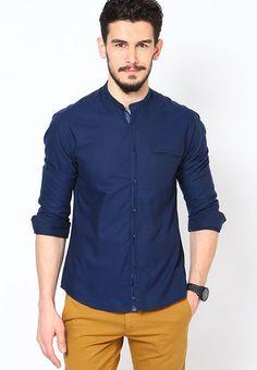 5b4cf8145df Buy wills lifestyle Blue Club Wear Shirts 1064084 for men online . Wills  LifestyleLifestyle ShirtsMens Party ...