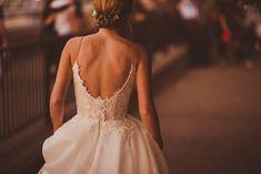 Bride wears Caroline Castigliano Dress with Pockets for a Glamorous London Wedding. Images by Matt Penberthy