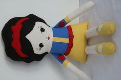 Snow White Doll Soft Doll Rag Doll Princess Doll by OhSewCuteByMel, $72.00