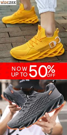 Men's Fashion Breathable Comfortable Non-slip Lightweight Sneakers Latest Fashion, Men's Fashion, Plus Fashion, Fashion Tips, Fashion Trends, Chic Outfits, Athletic Shoes, Bb, Sporty