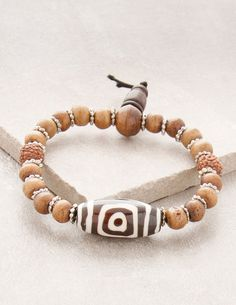 3-Eyed Tibetan Bracelet of Luck