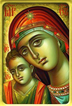 Iconar Eleni Dadi – icoana Byzantine Icons, Byzantine Art, Greek Icons, John Chrysostom, Madonna And Child, Art Icon, Orthodox Icons, Blessed Mother, Religious Art