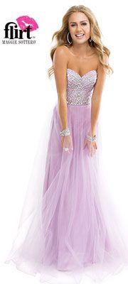 Flirt by Maggie Sottero 2014 Prom Dresses - Lavender Silver Grecian Goddess Tulle Dress