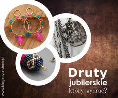 Przewodnik po drutach jubilerskich. Przeczytaj nasz poradnik i dowiedz się, który drut najlepiej sprawdzi się w twoim warsztacie jubilerskim. Drut jubilerski - który wybrać? poradnik | Royal-Stone blog Beading Tutorials, Wire Wrapping, Washer Necklace, Beaded Jewelry, Jewelry Making, Beads, Stone, How To Make, Crafts