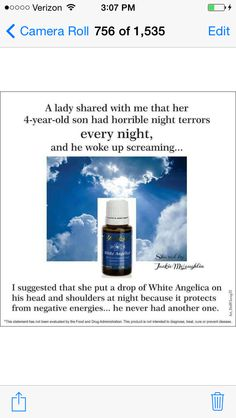 YL ESSENTIAL OILS - White Angelica for night terrors