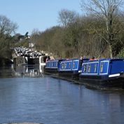 Moored At The Watford Staircase Locks Canal Barge Canal Boat