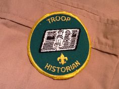 Troop Historian Boy Scout Patch from 1984 by HeydayRetroMart, $3.00