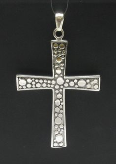 PE000372 Sterling silver pendant   925 solid cross perfect quality