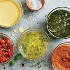 Transform any grilled main, pizza, pasta, or salad with one of these lick-the-spoon sauces, and make everyone happy. By: Katie Ba. Light Dessert Recipes, Cooking Light Recipes, Light Chicken Recipes, Healthy Chicken Recipes, How To Cook Shrimp, How To Cook Eggs, Lemon Buttermilk Cake Recipe, Tapas, Vegetable Kebabs
