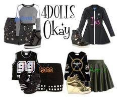 4DOLLS - Okay by mikki102 on Polyvore featuring polyvore fashion style Chicnova Fashion Chicwish Topshop H&M Aéropostale Jimmy Choo adidas clothing