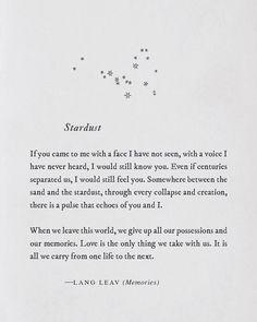 """9,385 Likes, 84 Comments - Lang Leav (@langleav) on Instagram: """"We are stardust ✨ #bookstagram #barnesandnoble #langleav #lovequotes #soulmate"""""""