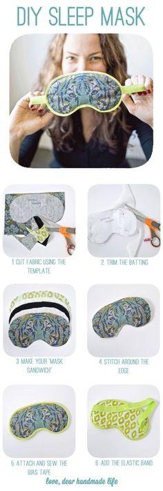 DIY sleep mask from Dear Handmade Life