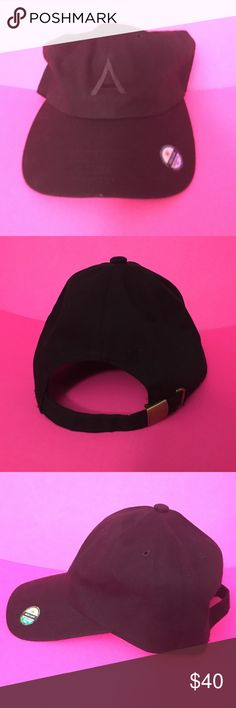 "Adele hat from her 2016 Tour Merch Black. Never worn. One size fits all. Black ""A"" embroidered on hat. Accessories Hats"