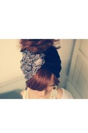 Black and Snake Skin Printing Hairband - Accessories