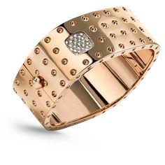 Pois Moi braPois Moi bracelet in 18kt rose gold with diamonds.