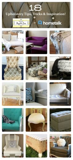 Eighteen amazing upholstery ideas: 11 Magnolia Lane's curated HomeTalk clipboard on Upholstery Tips, Tricks, & Inspiration. Furniture Projects, Furniture Makeover, Diy Furniture, Upholstery Tacks, Upholstered Furniture, Upholstery Cleaner, Upholstery Repair, Upholstery Cushions, Repurposed Furniture