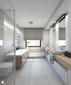 Dom jednorodzinny 7 - Duża łazienka, styl nowoczesny - zdjęcie od BAGUA Pracownia Architektury Wnętrz