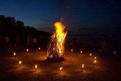 Osterfeuer in BINZ am Strand