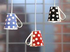 Manualidades y Artesanías | Lámpara con tazas | Utilisima.com