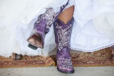 My wedding boots! Can& wait till I get married! Purple Cowboy Boots, Purple Boots, Cowgirl Boots, Western Boots, Black Cowgirl, Western Wear, Purple Love, All Things Purple, Purple Rain