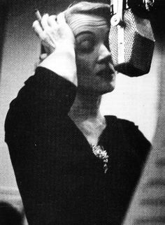 Marlene Dietrich during a 1952 Columbia Records session. (Photo by Eve Arnold)
