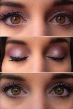 Area	Products Used	Technique Above Crease	Innocent	 matte Crease	Glamorous	 matte Outer V	Glamorous	 matte Lid	Flirty	 shimmery! Lashes	3D Lashes	 Check out the before and after in the top two pictures - wow!