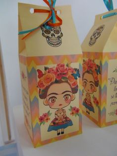 SD Eventos: PEQUEÑA FRIDA Cajitas golosineras Frida Kahlo