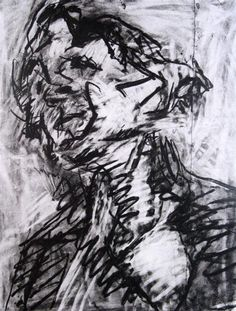 Drawing by Frank Auerbach, I really appreciate his use of line, particularly the thick black lines which partially gave me the idea to use them within my own work Gesture Drawing, Life Drawing, Figure Drawing, Painting & Drawing, Painting Prints, Frank Auerbach, A Level Art, Drawing Techniques, Drawing Tips
