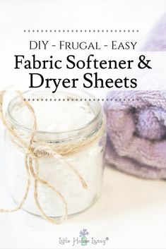Have you ever wanted to try creating your own DIY Natural Fabric Softener or DIY Dryer Sheets? Both can be very easy to create and they work just as well as any expensive store version. Check these easy recipes out! Eat Pray Love, Homemade Cleaning Products, Natural Cleaning Products, Little House Living, Laundry Detergent Recipe, Fabric Softener Sheets, Wool Dryer Balls, Easy Recipes, Beef Recipes