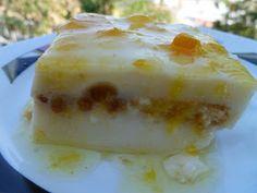 """Η μαγική φράση """"πορτοκαλόπιτα μαλεμπί"""" ειπώθηκε από την Αγγελική, αγαπημένη συνάδελφο και φίλη κι έτσι βρέθηκα εγώ να σκαρώνω αυτή τη συ... Greek Recipes, Bon Appetit, Deserts, Food And Drink, Gluten Free, Sweets, Cream, Puddings, Cakes"""
