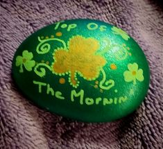 Shamrock, St Patrick's Day, rock painting