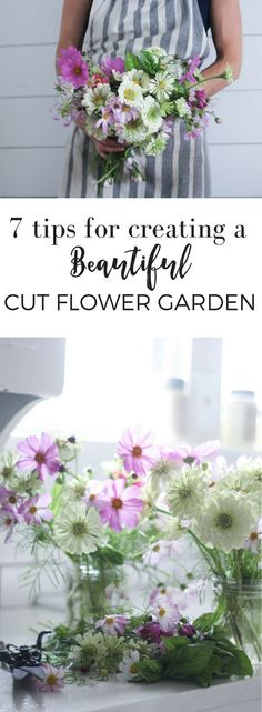 Potager Garden Design 7 Tips for Growing a Cut Flower Garden and How to Make Beautiful Arrangements - Farmhouse on Boone Flower Garden Layouts, Cut Flower Garden, Beautiful Flowers Garden, Flower Farm, Flower Gardening, Cut Garden, Micro Garden, Growing Flowers, Cut Flowers