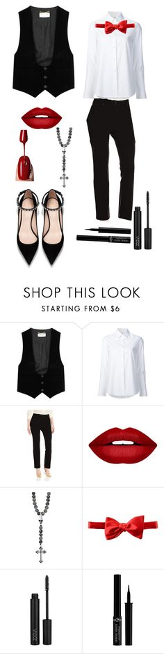 """Decim"" by gamerskitchenofficial on Polyvore featuring Yves Saint Laurent, Misha Nonoo, Rafaella, Forever 21, Michelsons, Giorgio Armani, cute, genderbend and deathparade"