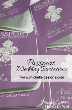 Passport Wedding Invitation :http://michellejdesigns.com/passport-wedding-invitation/