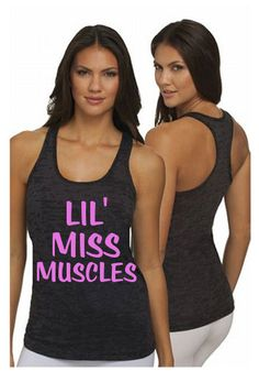 Lil Miss Muscles Workout Tank Top. BLACK by LivingProofGear