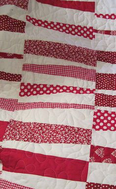 Red, White, and Happy Quilt 2 by c. jaeger, via Flickr